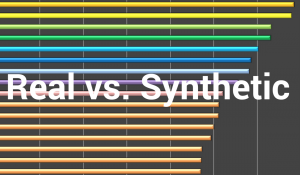 real vs synthetic title